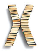 Letter X formed from books — Foto Stock