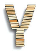 Letter Y formed from books — Stock Photo