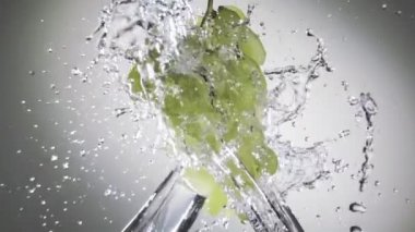 Grapes in water spray — Stock Video
