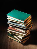 Stack of hardcover books — Stock Photo