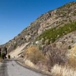 The road into the mountains. Kyrgyzstan. Ala-Archa. — Stock Photo