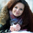 Stock Photo: Portrait of beautiful girl in winter