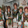 Ukrainian folk group in costumes — Foto Stock