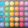 Stock Photo: Palette of colorful eye shadows