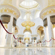 Abu Dhabi, UAE - June 4: Sheikh Zayed Grand Mosque interior inside and biggest in the world chandelier on June 4, 2012 in Abu Dhabi, UAE — Stock Photo