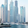 View at modern skyscrapers in Dubai Marina — Stock Photo #12440538