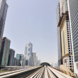 Dubai Metro as world's longest fully automated metro network (75 km) Dubai, UAE. — Stock Photo