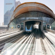 Dubai Metro as world's longest fully automated metro network (75 km) Dubai, UAE. — Stock Photo #12440597