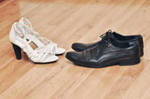 Male and female pair of shoes — Stock Photo