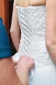 Beautiful white bridal — Stock Photo
