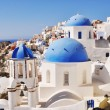 Stock Photo: Beautiful white-blue Santorini