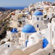 Classical Greek style church in Santorini, Greece — Foto de Stock
