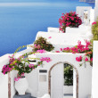 Stock Photo: Classical Greek style church in Santorini, Greece
