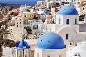 Santorini island landscape of famous Oia village, Greece — 图库照片