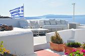 Geweldig uitzicht romantische santorini eiland, griekenland — Stockfoto