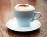 Cup of coffee with milk — Stock Photo