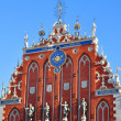 Blackhead's house  in old city part of Riga, Latvia — Foto Stock