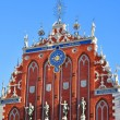 Blackhead's house  in old city part of Riga, Latvia — ストック写真