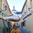 Vilnius, Lithuania: September 9, 2013 - Vilnius old town street — Stock Photo