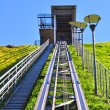 Funicular to reach the upper castle museum on Gediminas hill in Vilnius, Lithuania — Stock Photo