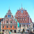 Riga, Latvia: September 7, 2013 - House of the Blackheads is a building situated in the old town of Riga, Latvia. — Stock Photo
