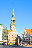 Saint Peters church in old city part of Riga, Latvia — Stock Photo