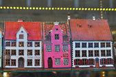 Pamiątka domy w sklepie z upominkami w rydze — Zdjęcie stockowe