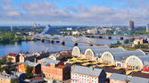 Old city part in Riga, Latvia. Areal view — Stock Photo