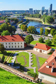 Vilnius, Lithuania: top view of the old city and the new modern houses — Stock Photo