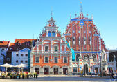 Riga, Latvia: September 7, 2013 - Old city part in Riga, Latvia — Stock Photo