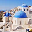 Classical Greek style church in Santorini, Greece — Stock Photo #33765723
