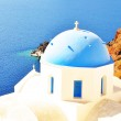 Classical Greek style church in Santorini, Greece — Stock Photo #33765881