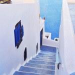 Steps and terrace on Santorini island — Stock Photo #33766057
