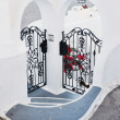 Stock Photo: Forged doors on private house, Santorini, Greece