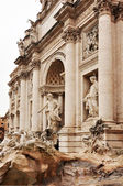 Fountain di Trevi - most famous Rome's fountains in the world. Italy. — Stock Photo