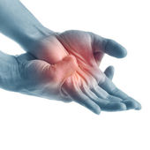 Pain in hand — Stock Photo
