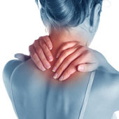 Pain in neck — 图库照片