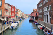 Main Canal, Murano Island, Venice, Italy — Stock Photo