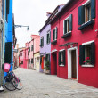 Multicolored houses of Burano island. Venice. Italy. — Stock Photo #46418249