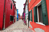 Colorful houses on Burano island — Stock Photo