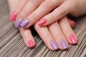 Bright color manicure — Stock Photo