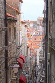 Street in the small town Dubrovnik, Croatia — Stock Photo