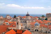 Dubrovnik Panorama taken at fortified walls — Stock Photo