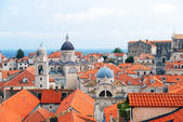 Dubrovnik Panorama taken at fortified walls — Stock Photo