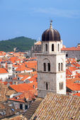Dubrovnik Panorama taken at fortified walls — Foto de Stock