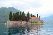 St. George Church on the island, Perast, Montenegro — Stock Photo