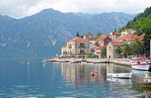 Perast town embankment, Bay of Kotor, Montenegro — Stock Photo