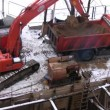 Vídeo Stock: Excavator