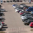 Stock Video: Parking many cars
