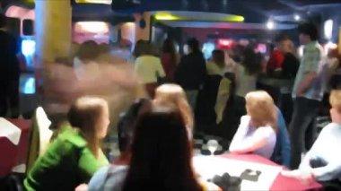 Night club time lapse. — Stock Video
